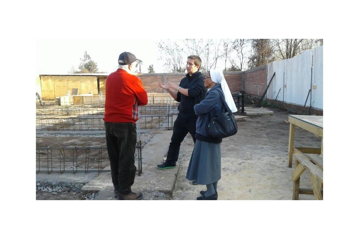 Rancagua (Cile) - Lavori per la costruzione della Casa di Marianna