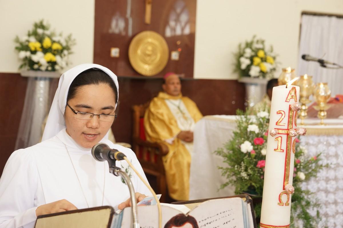 Lettura durante la celebrazione