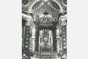 L'immagine di S. Rosa collocata nella Gloria del Bernini